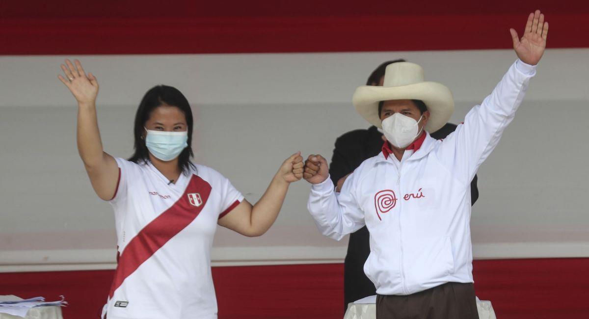 Keiko Fujimori y Pedro Castillo volverá a debatir previo a la segunda vuelta. Foto: Andina