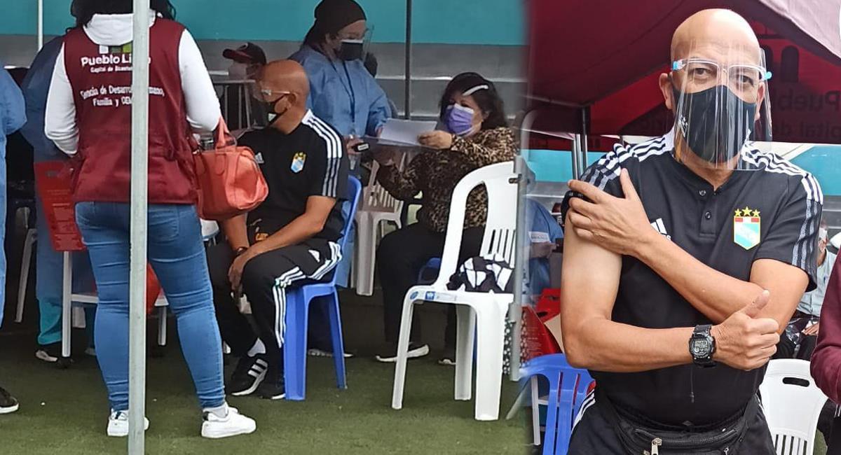 Roberto Mosquera recibió primera dosis contra la COVID-19. Foto: Cortesía: Enzo Mori