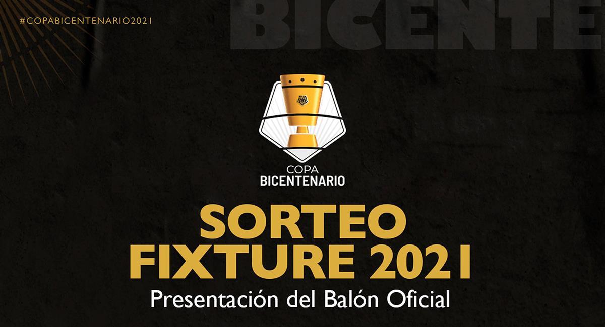 Copa Bicentenario y el fixture 2021. Foto: Twitter @LigaFutProf