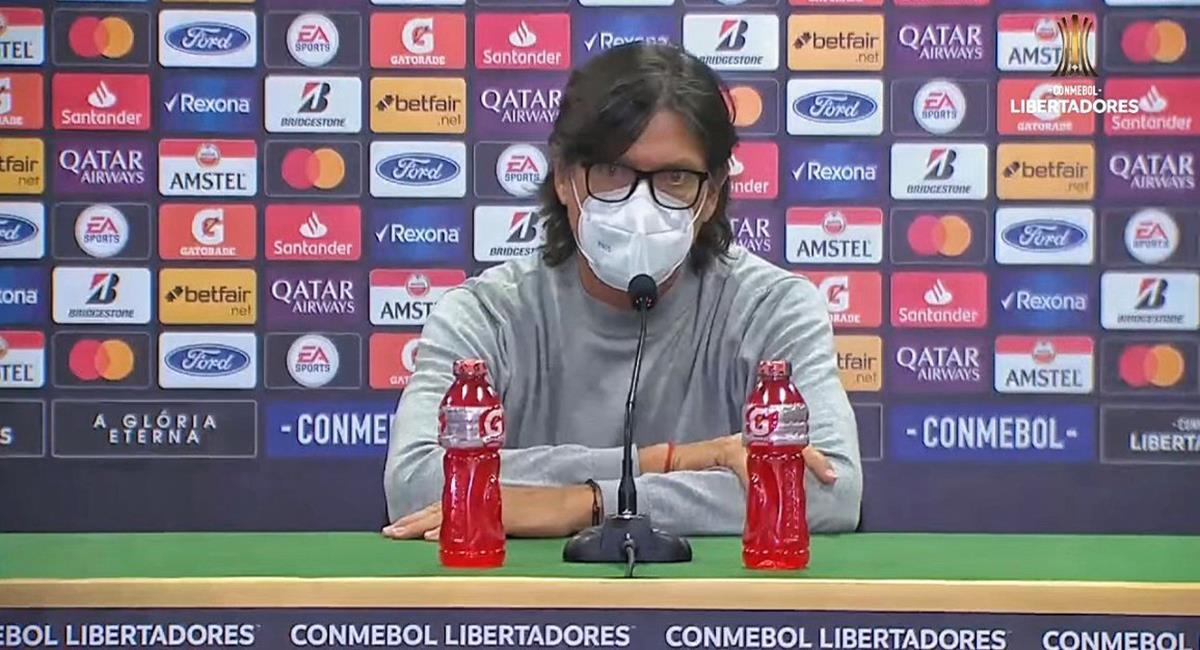 Comizzo y sus palabras tras derrota de Universitario. Foto: Twitter Conmebol Libertadores