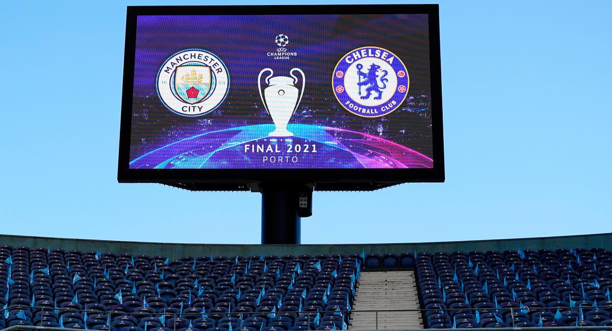 Manchester City y Chelsea por la gran final de Champions. Foto: Twitter @ChampionsLeague