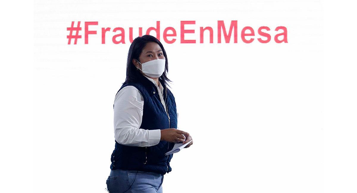 """Keiko Fujimori denuncia un """"fraude sistemático"""" en los comicios de Perú. Foto: EFE"""