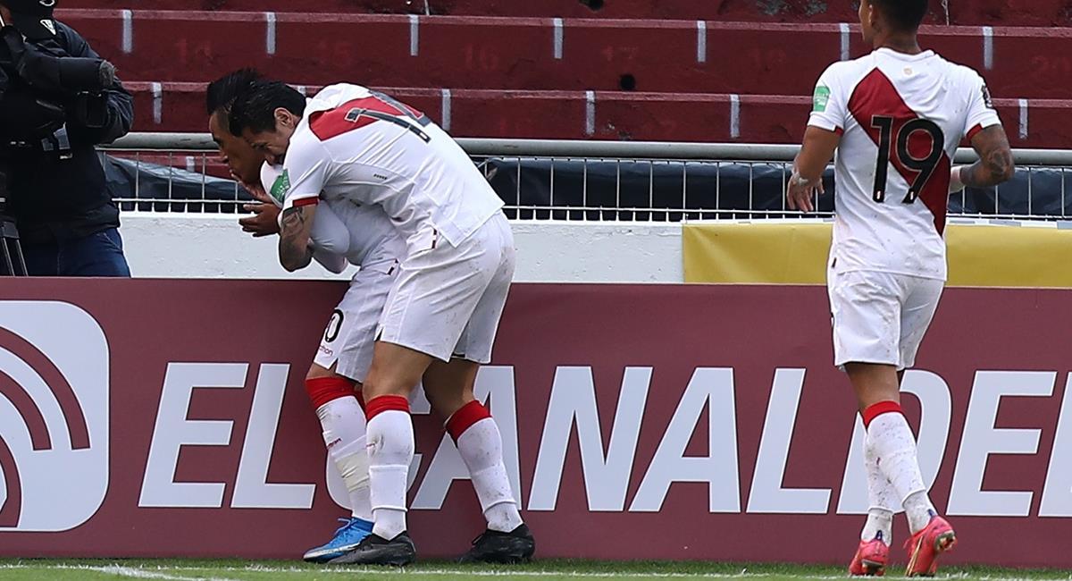 Christian Cueva anotó el gol peruano. Foto: EFE