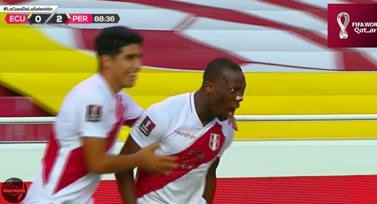 Luis Advíncula anotó el gol de la victoria. Foto: Twitter Captura Movistar Deportes
