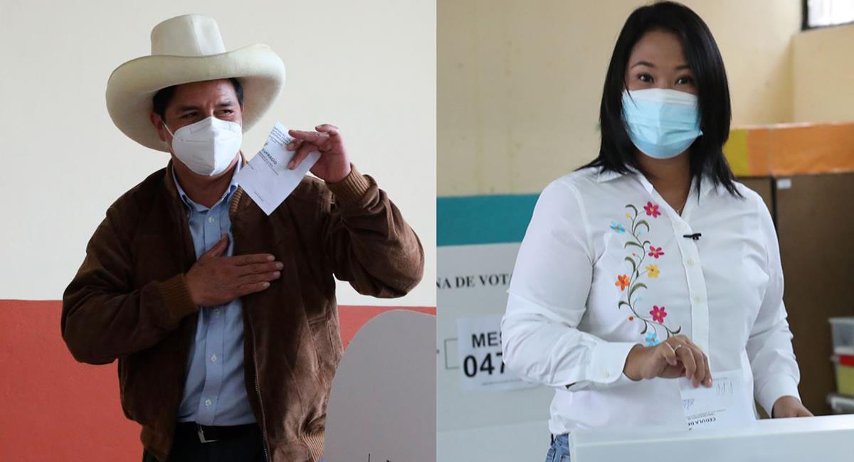 Pedro Castillo superó a Keiko Fujimori. Foto: Andina