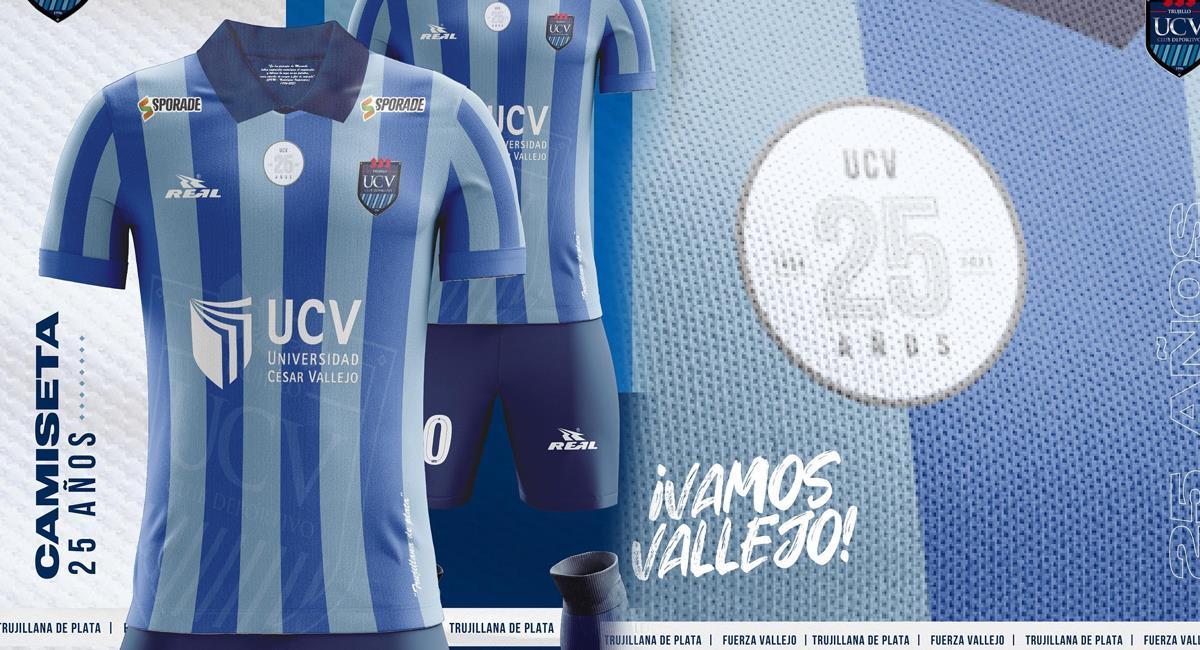 Nueva camiseta de César Vallejo. Foto: Twitter César Vallejo