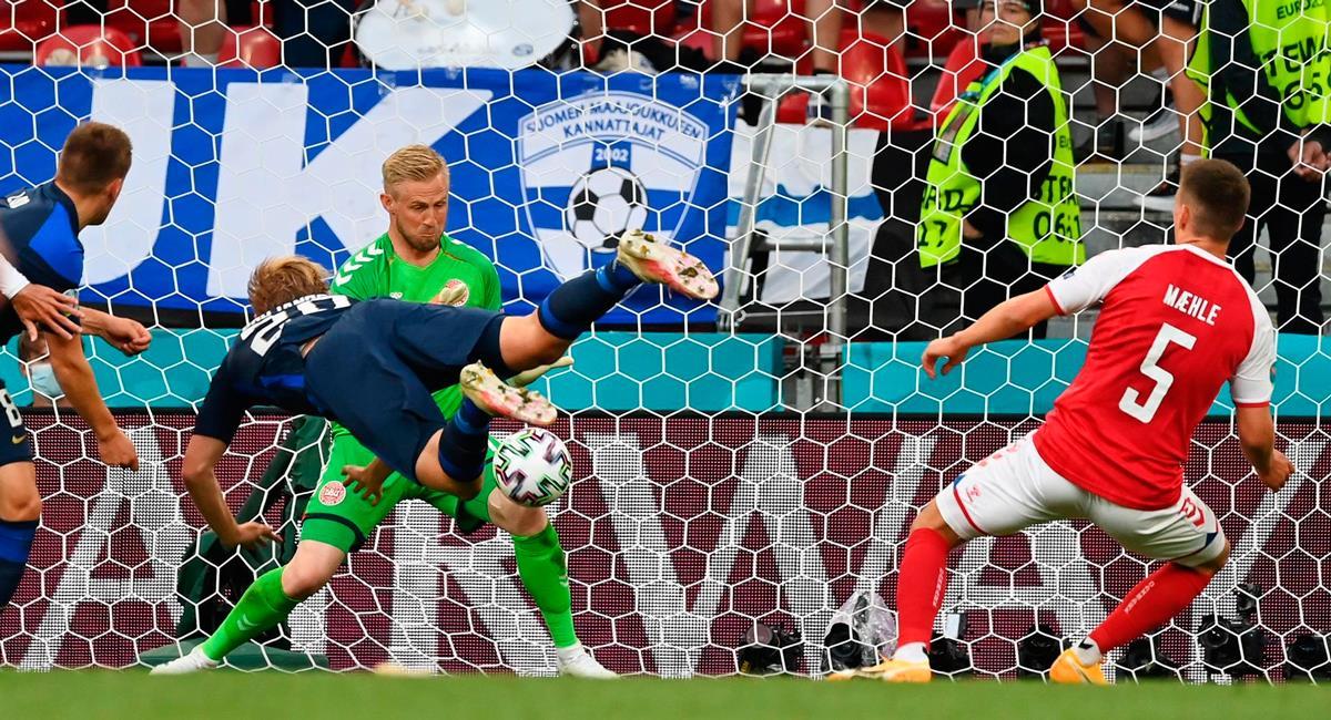 Joel Pohjanpalo marcó el único gol del encuentro. Foto: EFE