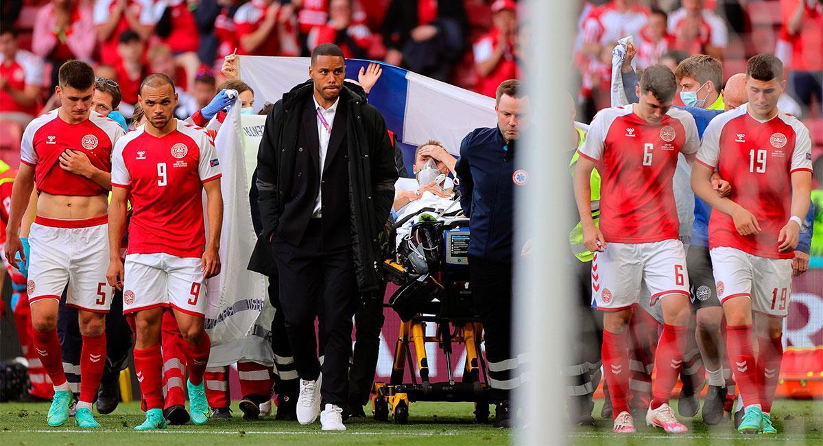Christian Eriksen se salvó de morir en pleno partido de la Eurocopa. Foto: EFE