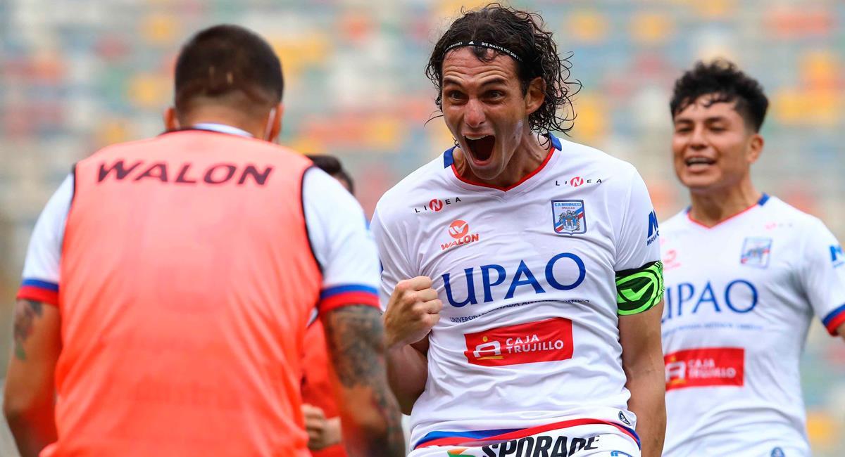 José Carlos Fernández marcó el 2-0 para Carlos Mannucci. Foto: Twitter @LigaFutProf