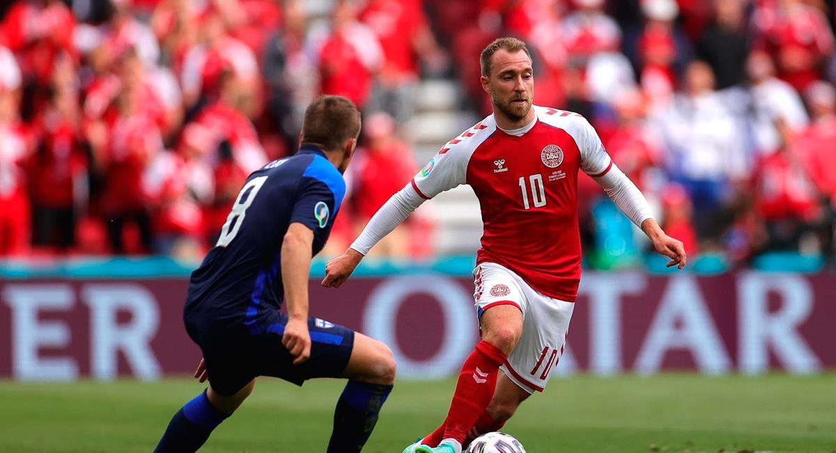 Christian Eriksen sufrió desvanecimiento en el estreno de Eurocopa 2021 con Dinamarca. Foto: EFE