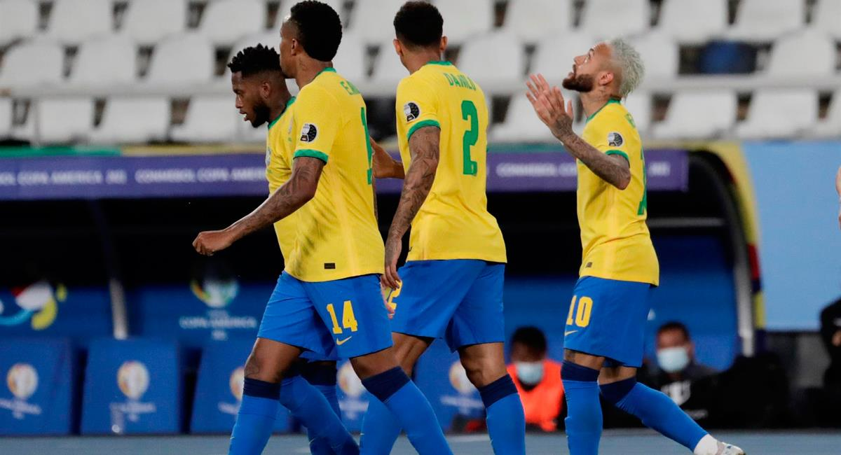 Neymar consiguió el 2-0 para Brasil a los 68 minutos. Foto: EFE
