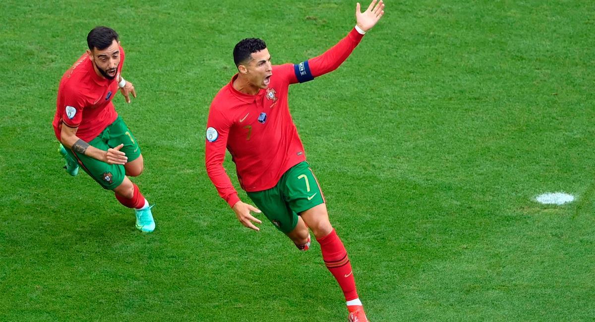 Cristiano Ronaldo apareció a los 15 minutos para el 1-0 de Portugal. Foto: EFE