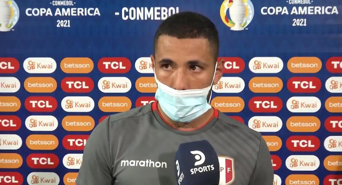Sergio Peña y la emoción por su gol. Foto: Twitter DirecTV Sports