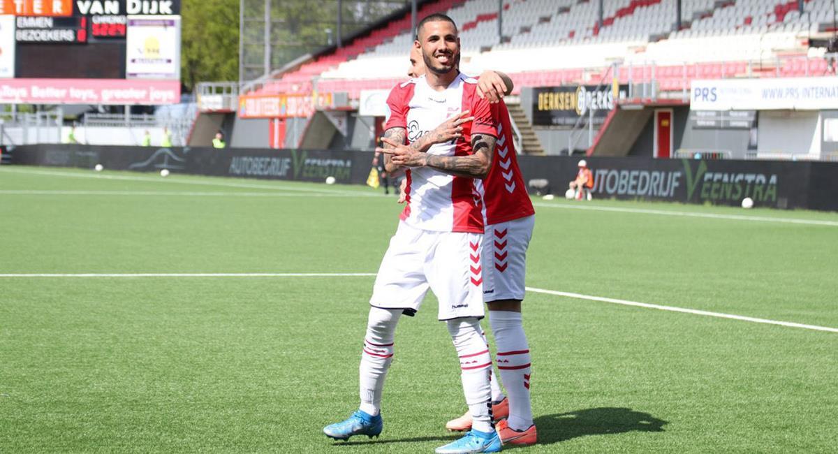 Sergio Peña tuvo buenos momentos con FC Emmen. Foto: Twitter FC Emmen