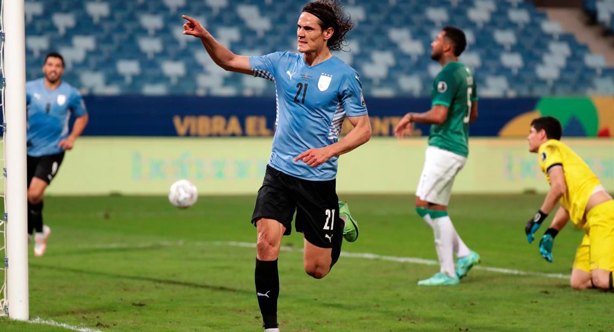 Edinson Cavani marcó el segundo gol para Uruguay. Foto: EFE