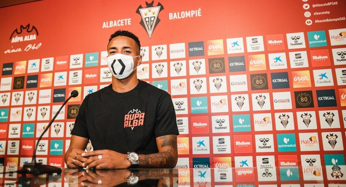 Jeisson Martínez fue presentando en el Albacete. Foto: Prensa @AlbaceteBPSAD