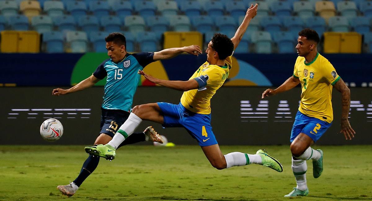 Brasil y Ecuador se reparten los puntos. Foto: EFE