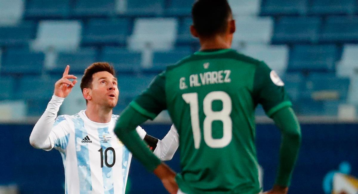Lionel Messi anotó dos goles a favor de Argentina. Foto: EFE