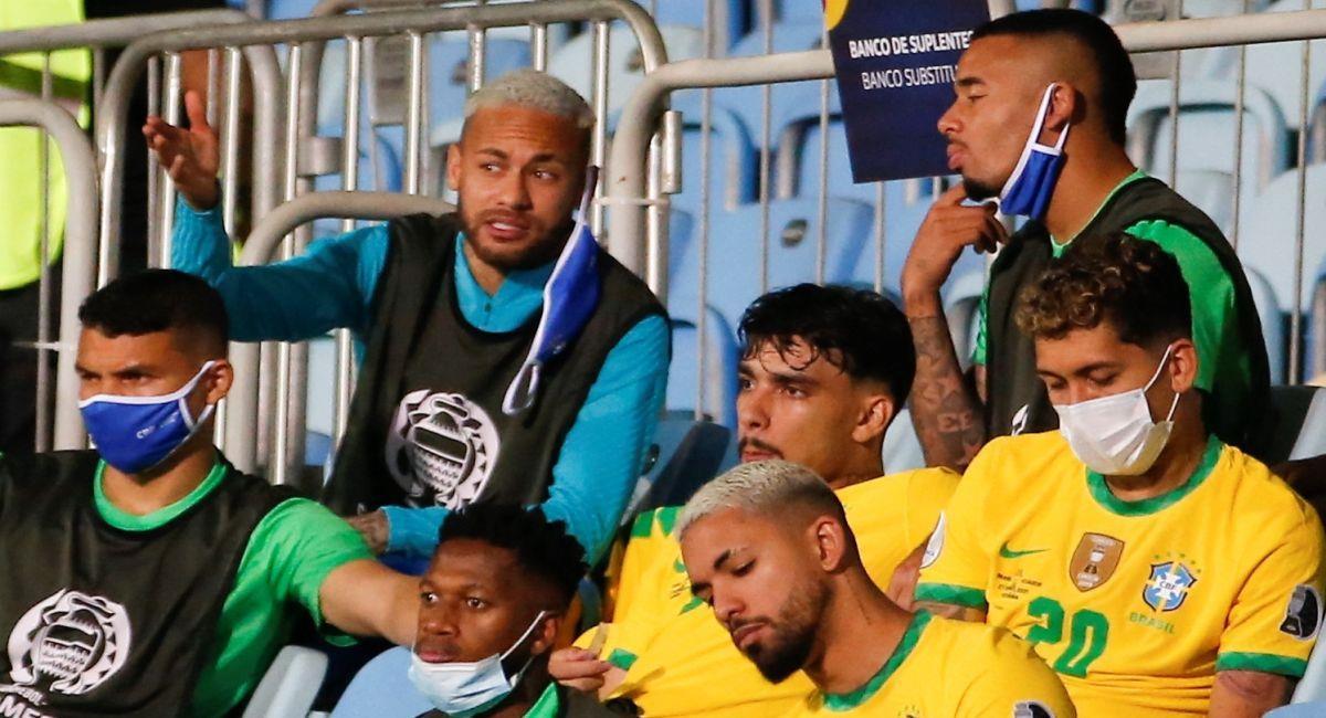 Neymar no ingresó un solo minuto en el partido ante Ecuador. Foto: EFE