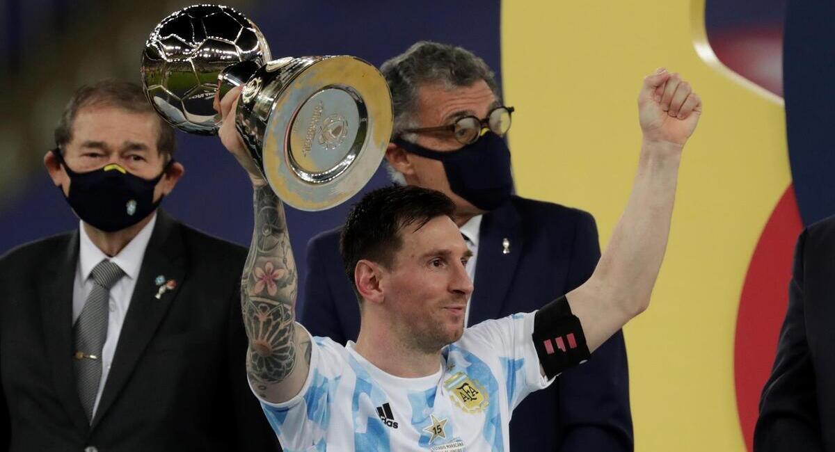 Messi sumó su primer título con Argentina. Foto: EFE