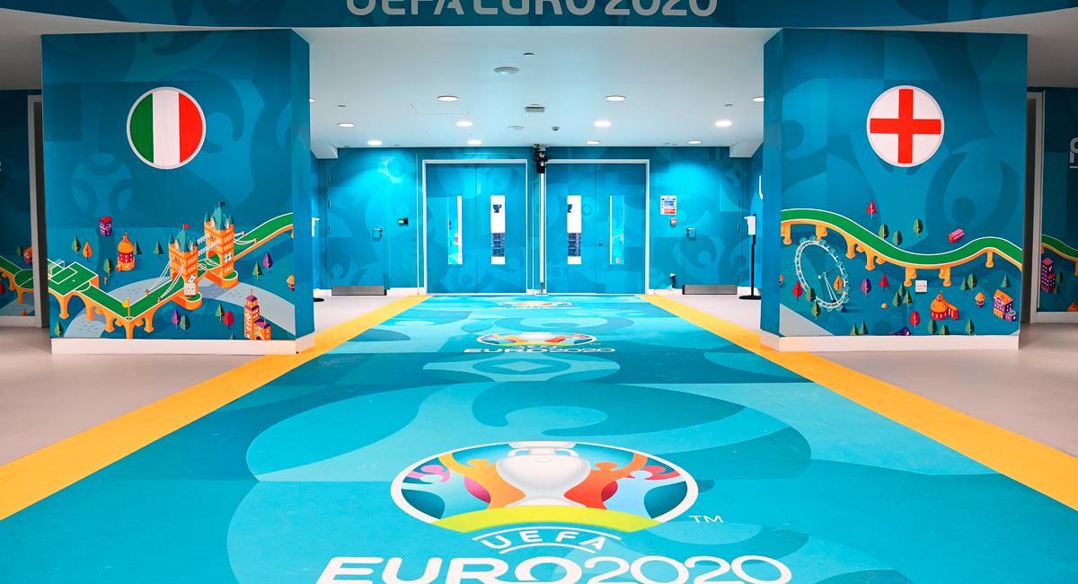 Italia e Inglaterra se miden en la final de la Eurocopa 2021. Foto: Twitter @EURO2020
