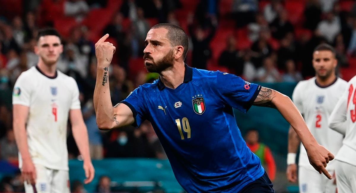 Leonardo Bonucci marcó el empate a los 67 minutos. Foto: EFE
