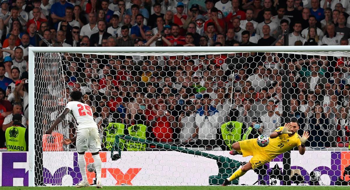 Italia se impuso 3-2 en los penales a Inglaterra. Foto: EFE
