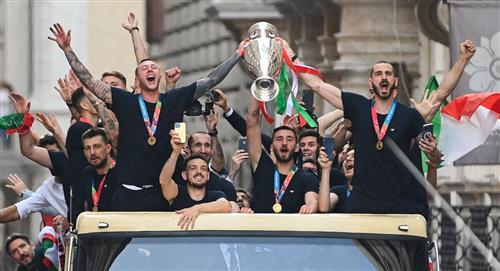 Italia festeja en Roma
