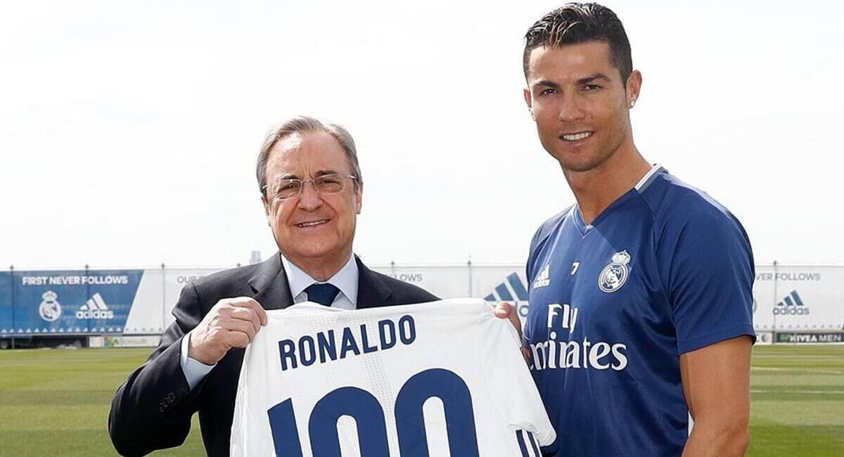 Florentino Pérez y Cristiano Ronaldo. Foto: @RealMadrid