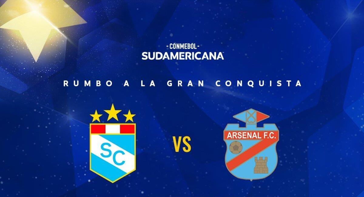 Cristal recibirá a Arsenal. Foto: @Sudamericana