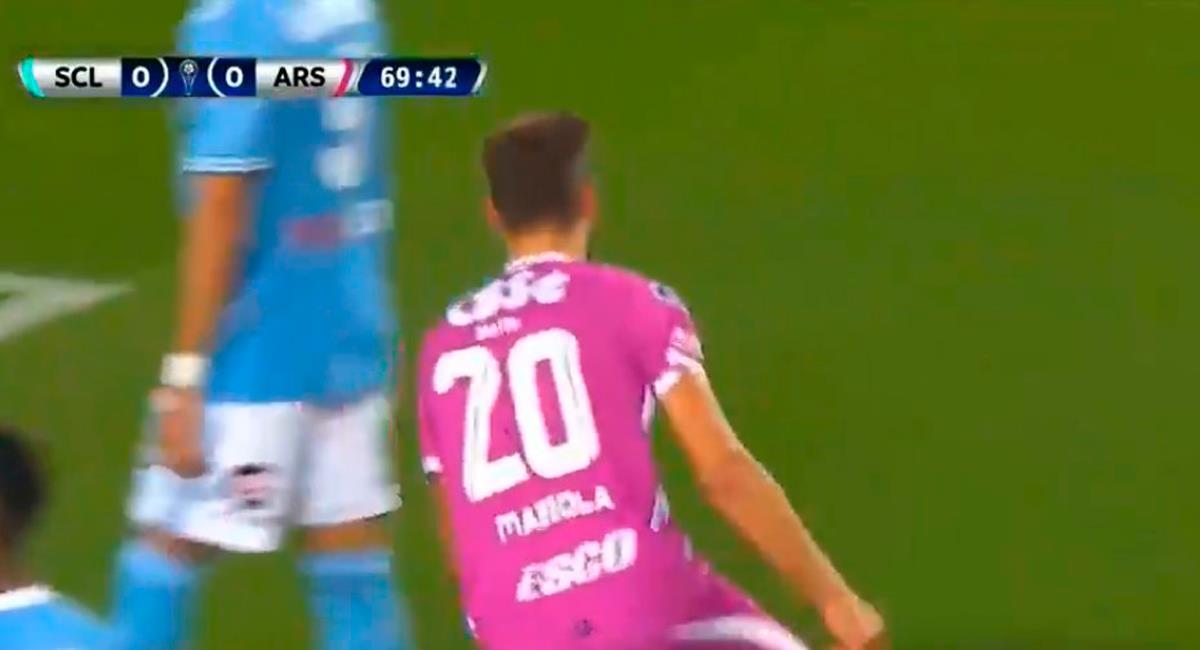 Nicolás Mazzola puso el 1-0 a los 70 minutos. Foto: Twitter Captura