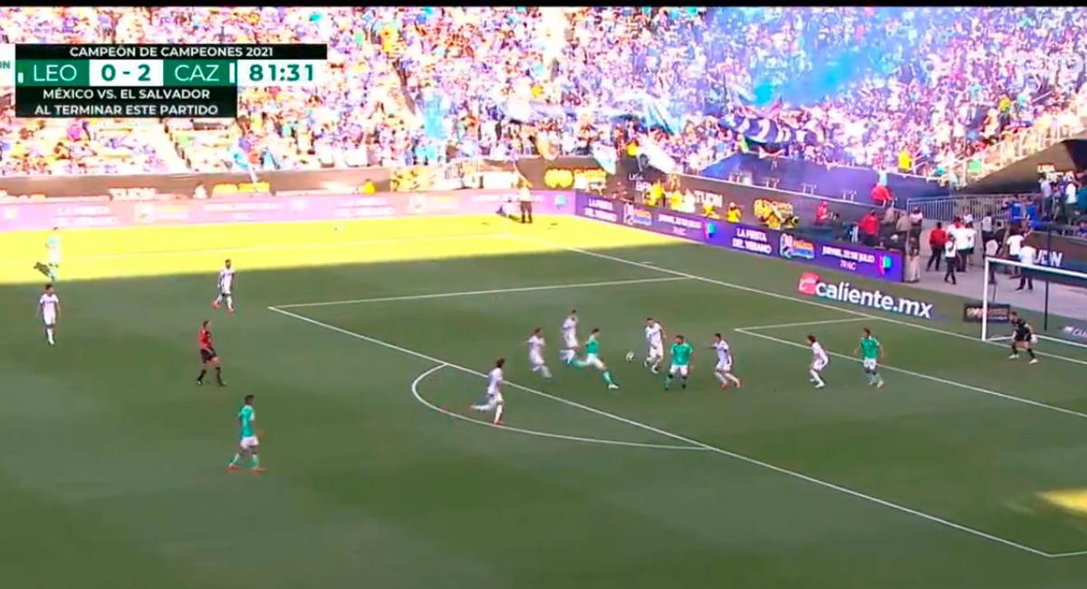 Santiago Ormeño descontó a los 82 minutos. Foto: Twitter Captura