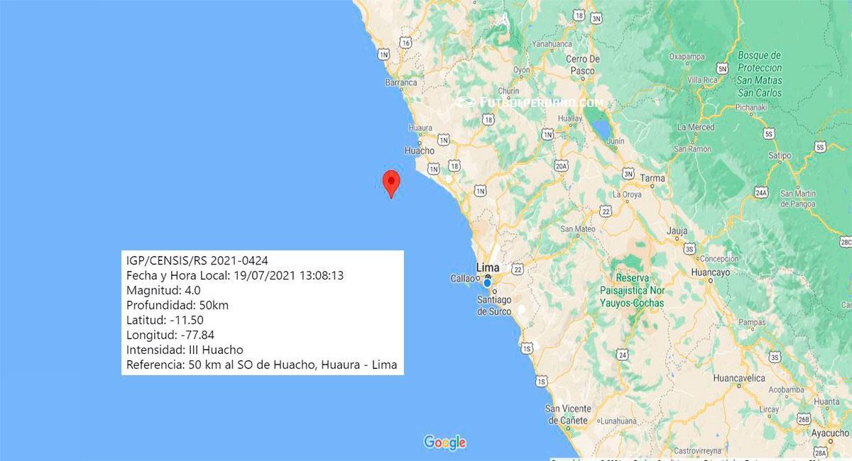 Temblor de 4.0 de magnitud sacude Lima, con epicentro en Huacho (Huaura). Foto: Google Maps