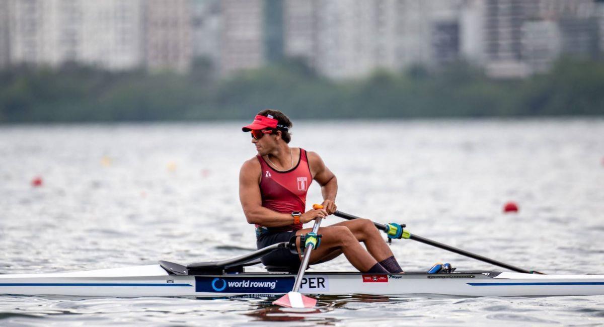 Álvaro Torres, competirá en remo en Tokio 2020. Foto: Andina