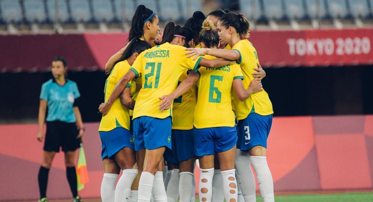 Brasil debutó con triunfo en el fútbol femenino de Tokio 2020. Foto: Twitter CBF