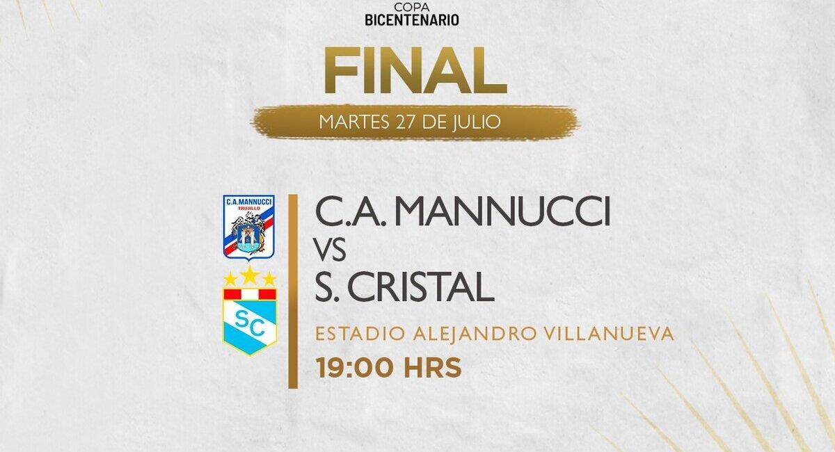Final de la Copa Bicentenario. Foto: @LigaFutProf