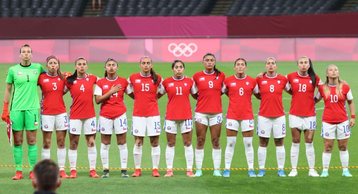 Chile cayó en su debut en Tokio 2020. Foto: Twitter ANFP