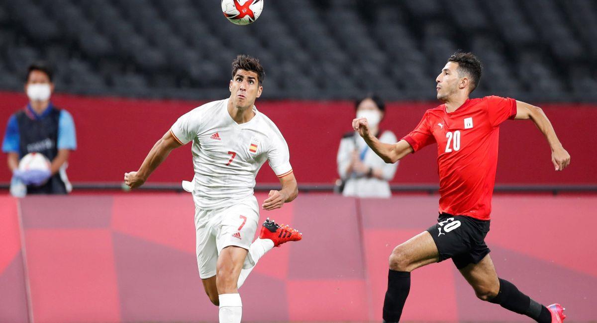 España empató con Egipto en su debut en Tokio 2020. Foto: EFE