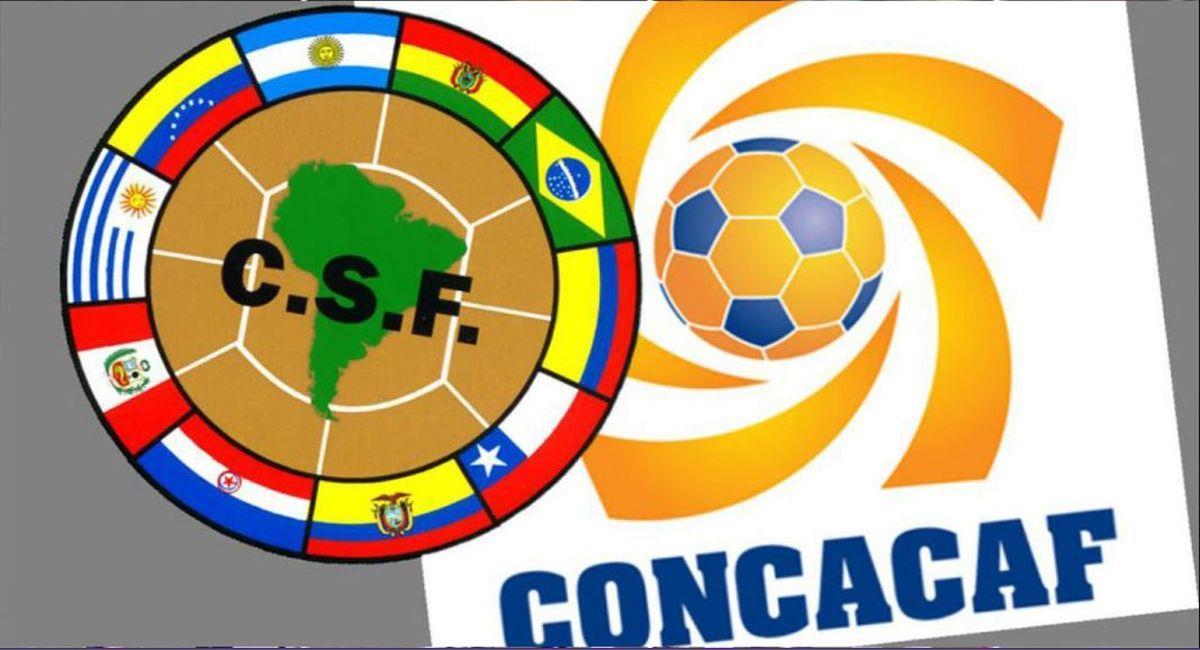 Conmebol y Concacaf. Foto: Captura
