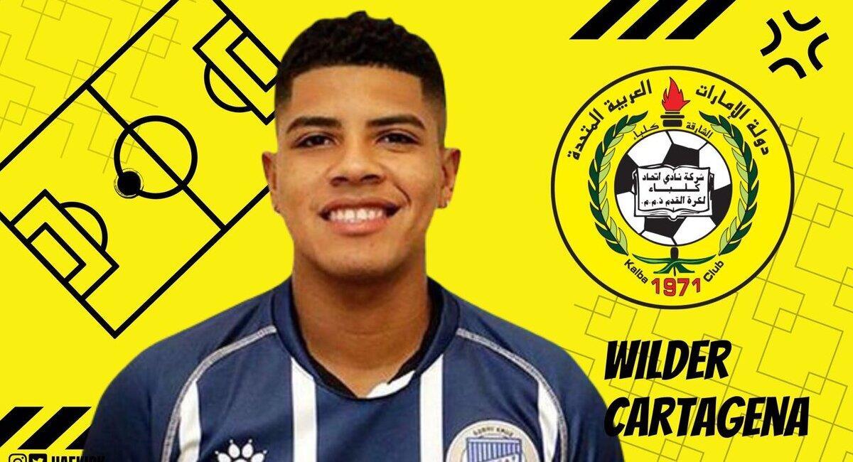 Wilder Cartagena. Foto: @UAEkick