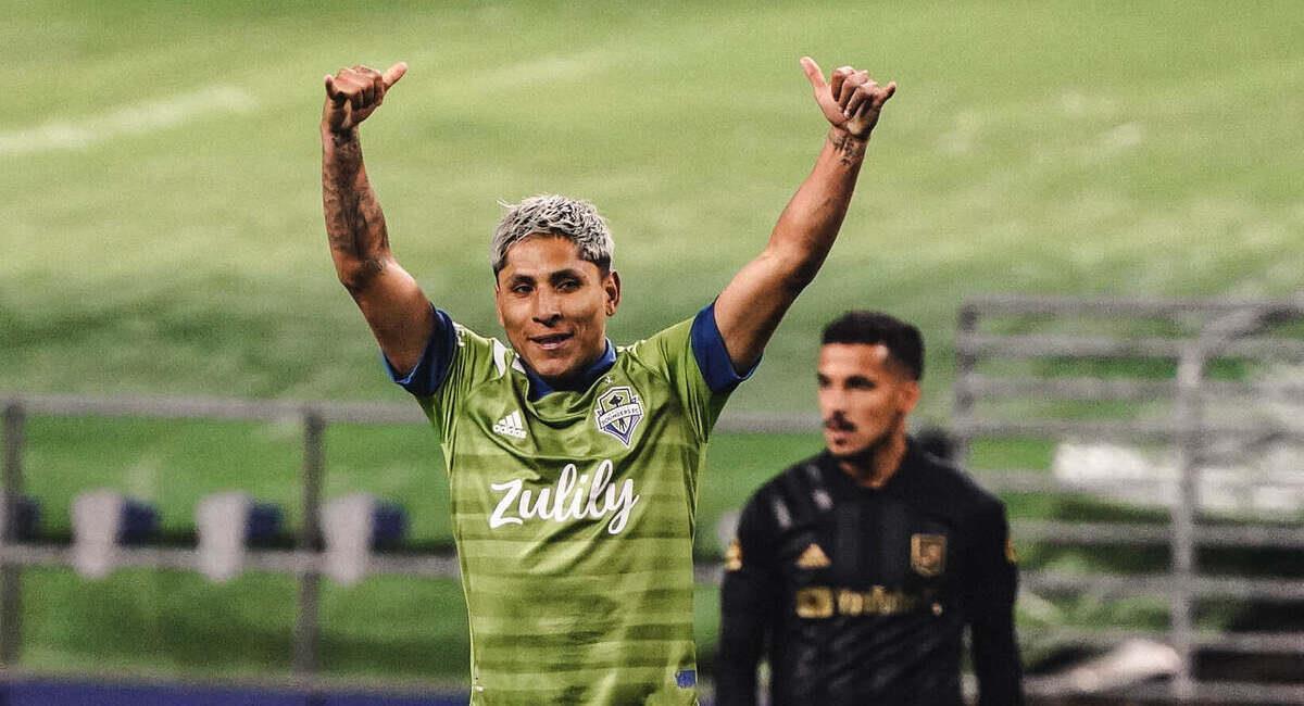 Ruidíaz marcó un golazo en la MLS. Foto: @SoundersFC