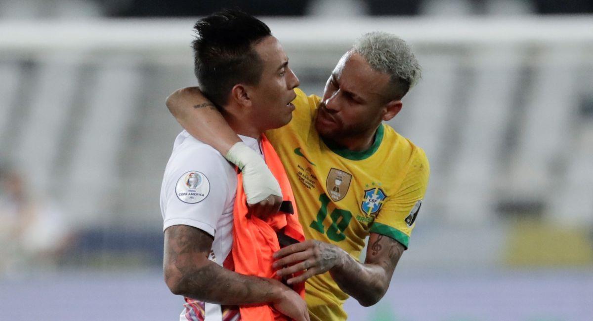 La conversación de Christian Cueva y Neymar durante la Copa América. Foto: EFE