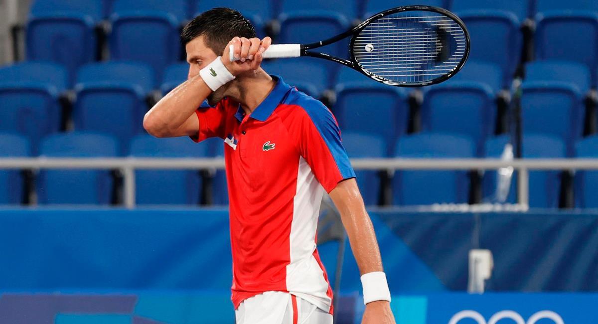 Novak Djokovic cayó este viernes en Tokio 2020. Foto: EFE