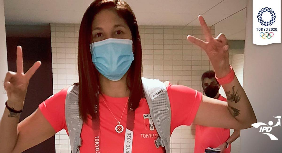 Alexandra Grande llegó a Tokio para su participación en los Juegos Olímpicos. Foto: Twitter @ipdperu