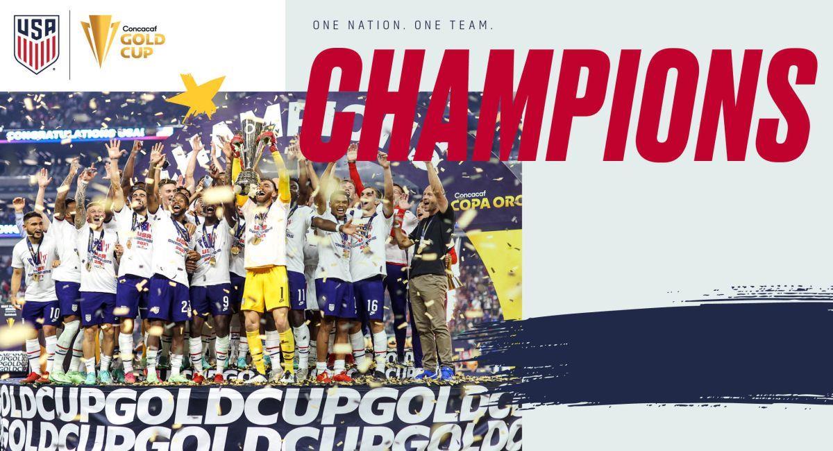 Estados Unidos ganó la Copa Oro. Foto: Twitter Selección de Estados Unidos