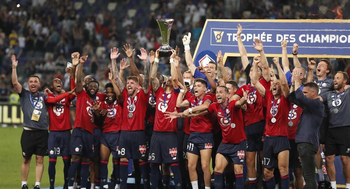 Lille campeón de la Supercopa. Foto: EFE