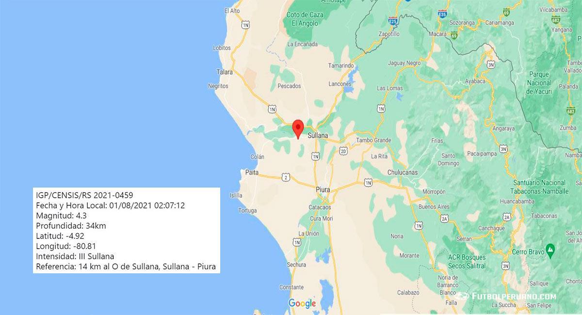 Piura no deja de temblar. Foto: Google Maps