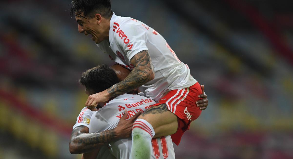 Internacional goleó en casa de Flamengo este domingo. Foto: Twitter @SCInternacional