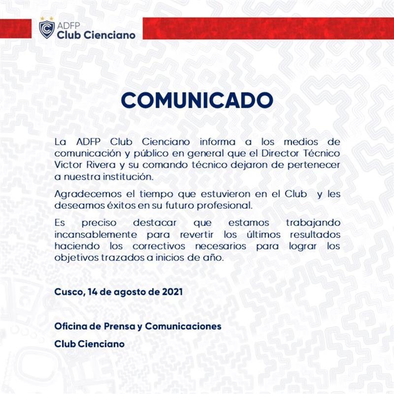 Foto: @Club_Cienciano