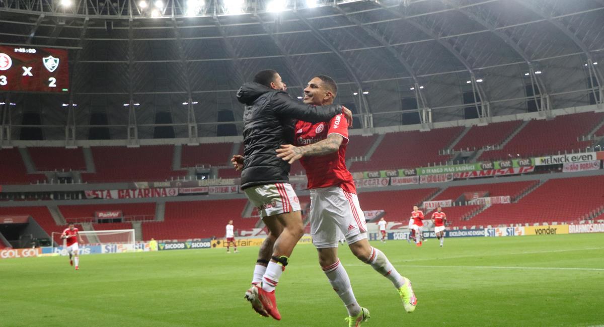 Paolo Guerrero anotó a los 96 minutos. Foto: Twitter @SCInternacional